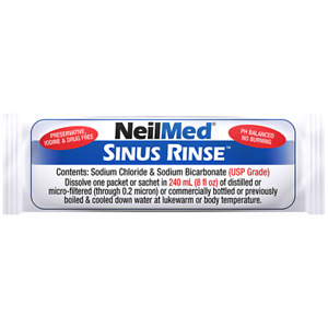 NeilMed Sinus Rinse Saline Nasal Natural Sinus & Allergy Relief sachets No1Brand
