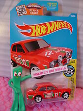 Case F 2016 Hot Wheels '70 FORD ESCORT RS1600 #185✰Red;white 5;12 Castrol✰SPEED