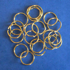 20 gold plated 18mm jump rings, findings for jewellery making crafts