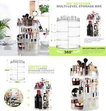 Organizador Maquillaje cosmeticos giratorio 360º,de acrilico,8 estantes,36x25 cm