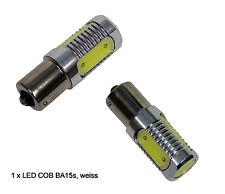 LED Lampe f Positionslampen BA15s COB Technik 4-Feld 6W 12 24 Volt BA-15S weiss