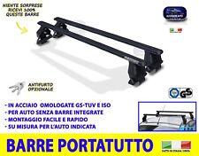 Barre portatutto Fiat Bravo 2007>2014 5 porte da TETTO auto acciaio pacchi kit