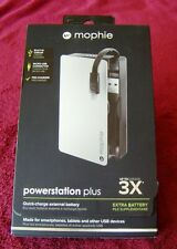 Mophie Powerstation Plus 3x with Micro USB 5,000 mAh Battery For Android Phone