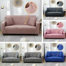 1 2 3 4 Seater Soft Couch Sofa Cover Universal Slipcover 6 Color For Home Office