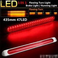 12-24V 435mm 48LED Dual Color Car SUV Flowing LED Turn Lamp Stopping Brake Light