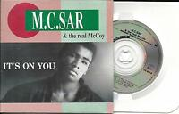 """CD (3"""" CD) CARTONNE CARDSLEEVE 5T M.C. SAR & THE REAL McCOY IT'S ON YOU 1990"""