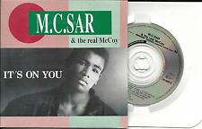 "CD (3"" CD) CARTONNE CARDSLEEVE 5T M.C. SAR & THE REAL McCOY IT'S ON YOU 1990"