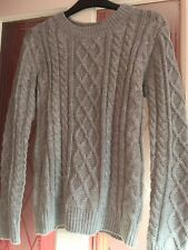 Grey coloured jumper... cable design..Size 12