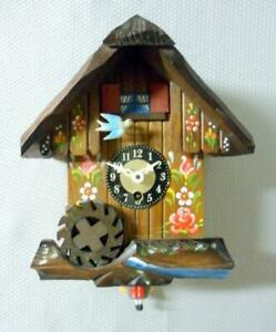 Vintage J. Engster Musical Animated Bouncing Girl Cuckoo Clock