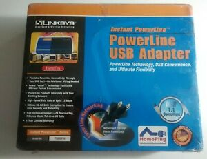 Linksys PowerLine USB Adapter PLUSB10 New Factory Sealed 14Mbps Plug and Play