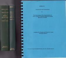 3lot THE GENEALOGY OF THE DESCENDANTS OF JOHN CLOUGH OF SALISBURY MASS VOLs 1&2