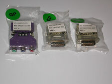 LOT OF 3 ATI ADAPTERS 2 DVI to VGA & 1 DVI-I Male to 3 Female Component Video