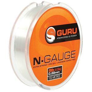 Guru N-Gauge Hooklength / Pole Rig Line 100m Clear Mono