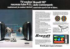PUBLICITE  1976   BRANDT  téléviseur ( 2 pages)