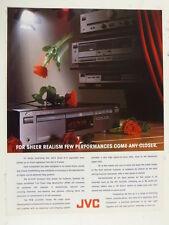 "9 x 12"" retro magazine advert 1991 JVC  compact disc player"
