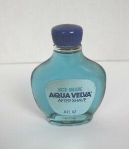 Vintage Aqua Velva Ice Blue After Shave 4 Oz Glass Bottle full