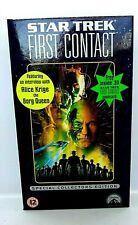 STAR TREK FIRST CONTACT special collectors edition - VHS With 3D postcard