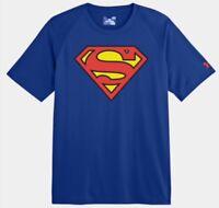 UNDER ARMOUR MEN'S ALTER EGO SUPERMAN LOOSE FIT TEE SHIRT UA HEATGEAR DC T-SHIRT