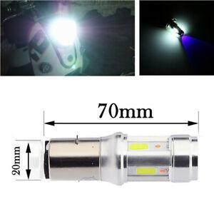 Headlight Motorcycle ATV BA20D 18w LED COB Bulbs Light Hi/Lo Beam Fog Lamp 12V