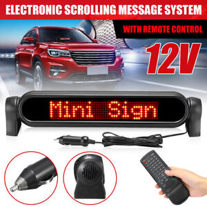 LED Digital Car Programmable Message Sign Moving Scrolling Display Board Red UK