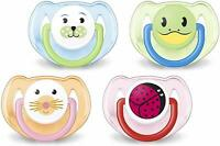 Philips Avent Soothers Dummies 6-18 Months Animal Design Pack of Two - SCF182/34