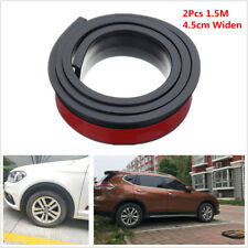 2x1.5M 4.5cm Widening Car Fender Flare Extension Wheel Eyebrow Rubber Protector
