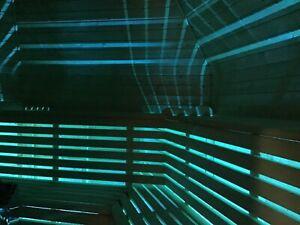 LED Saunabeleuchtung, Unterbank Saunabeleuchtung, Sauna, Farblicht 5, Meter,,,-