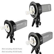 Godox AD-B2 Dual Double Power Flash Head S type Bracket for AD200 Speedlite 400W