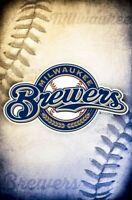 MILWAUKEE BREWERS ~ STITCHES LOGO 22x34 POSTER MLB Major League Baseball