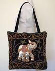Kalaga Sequin Elephant Tote Bag Handmade Brand New