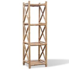 4-Etagen Bambus Badregal Handtuchregal Duschregal Standregal Bücher Küchenregal