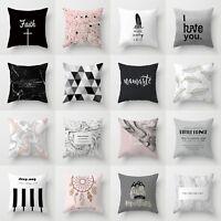 Waist Throw Polyester 18'' Sofa Decor Case Pillow Home Cushion Cover