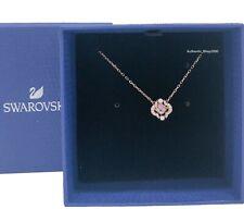 NEW Authentic SWAROVSKI Rose Gold Sparkling Dance Pink Clover Necklace 5514488