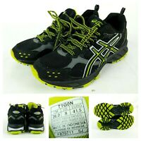 Asics Gel Enduro 7 Size 8 Black Shoes Men T1G0N Athletic Running Training Yellow