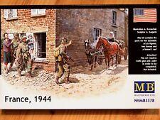 Masterbox 1:35 FRANCIA 1944 cavallo e carrello con figure epoca ww2 kit modello