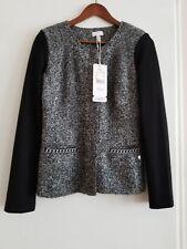 """ESCADA black /gray metalic Eliza jacket. Size 36."""""""