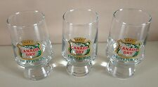 3 X Vintage small  CANADA DRY  Fruit Juice glasses
