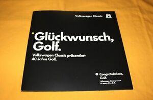 VW Golf 40 Jahre 1974 2014 Prospekt Brochure Catalog Folder Prospetto Depliant