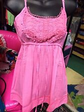 Pink Sun Slip Dress Summer Dresses Lace Funky People Mini M Medium