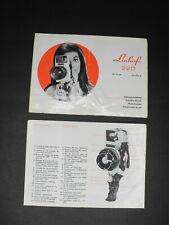Linhof 220 56x72 mm / 2 1/4 x 2 3/4 Inch 1972 Operating Manual (Cover Detached)