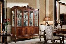 Glas Vitrine Vitrinen Kommoden Schrank Wohnzimmer Schaufenster Rokoko Barock E70