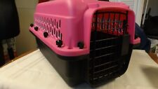 Pink & Black Plastic Cat Carrier by Ggreat Choice