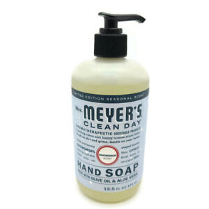 Mrs Meyers Clean Day Snowdrop Hand Soap Olive Oil Aloe Vera Free Shipping