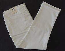 Lands End White Mid Rise Straight Leg Jeans 18P Womens 18 Petite Fit 2 pants NWT