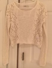 Abercrombie Kids Girls Fashion Top Lace Sweater Cream Size M