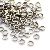 100x 304 Stainless Steel Unsoldered Jump Rings 12 Gauge Strong Loop Findings 6mm