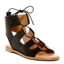 REPORT Womens 'Zahara' Black Gladiator Flat Sandals Sz 8 - 232399