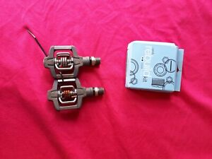 Crank Brothers Grey Candy Eggbeater Pedals With Pedal Rebuild Kit 9/16
