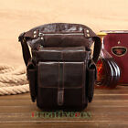 Men's Genuine Leather Travel Hiking Messenger Belt Hip Waist Thigh Drop Leg Bag