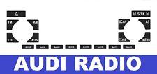 AUDI CONCERT RADIO STEREO BUTTON REPAIR DECAL KIT A4 A6 A8 TT